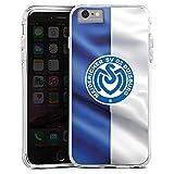 DeinDesign Apple iPhone 6 Plus Bumper Hülle transparent Bumper Case Schutzhülle MSV Duisburg Fahne Fussball Bundesliga