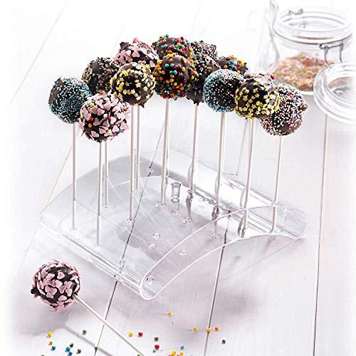 Westmark 30252260-Soporte para 20 Cake Pops (22 x 16 x 6 cm, Transparente, Plastic
