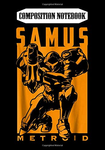 Composition Notebook: Nintendo Metroid Samus Returns Warrior Pose Graphic, Journal 6 x 9, 100 Page Blank Lined Paperback Journal/Notebook