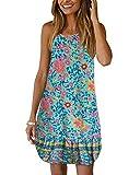 YOINS Abito Donna Estivo Abiti da Spiaggia Casuale Vestito Corto Elegante Vestiti Mini Senza Maniche 13 XS