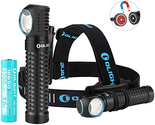 Olight Perun 2000 Lumens Multi functional Right Angle Headlight MCC Rechargeable Cool White product image