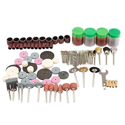 Senmubery 147pzs Juego de broca herramienta rotativa de taladro y apto Juegos de herramientas de pulido, tallado, pulido, cabeza de amoladora