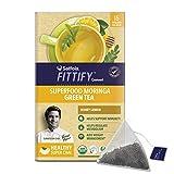 Saffola FITTIFY Gourmet Superfood Moringa Green Tea, Honey Lemon, 15 Sachets, 37.5g
