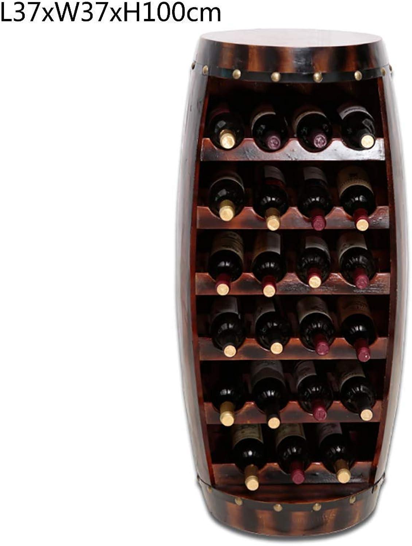 Red Wine Shelf Creative Wooden Wine Cellar Wine Cabinet Floor-Standing Wine Display Rack Bar Red Hotel Retro Wine Rack (color   1 ) (color   7 )