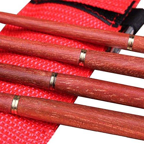 Besthomelife折り畳み箸野箸キャンプ/アウトドア用収納袋付き(木)