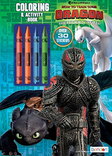 DreamWorks How to Train Your Dragon 3 48-Page Coloring & Activity Book with 4 Crayons, 37231 Bendon