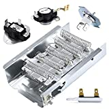 279838 Dryer Heating Element 3977767 3392519 Thermostat Fuse Kit 3977393 Dryer Thermostat & 3387134 Cycling Thermostat Heating Element Part # 279838 for Whirlpool
