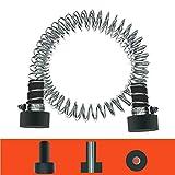 Trsmima Heavy Duty Stainless Steel Zipline Spring Brake Extra Long 6.5 FT, Zipline Stopper, Kids Backyard Zip Line Spring Braking System/Stop/Stopper for 3/16 1/4 5/16 3/8 inch Wire
