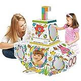 Leo & Emma Spielhaus 83 x 70 x 80 cm DIY Doodle Zeichnen Kunst Bastelset für Kinder Pappe Spielhaus...