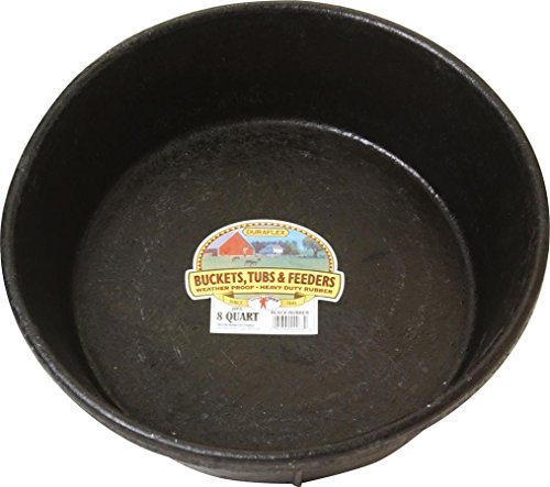 Miller CO Rubber Feed Pan, 8 quart, Black