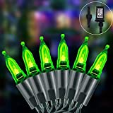 66Ft Halloween Green String Lights with 8 Modes, 150LED Connectable Christmas Tree Green Mini Lights Plug in for Home,Garden,Holiday,Party Outdoor Indoor Decor-Green