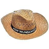 Nashville print factory Strohhut mit Wunschtext Bedruckt auf farbigem Hutband Sonnenhut Sommerhut...