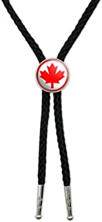 Graphics and More Canada Maple Leaf Flag Western Southwest Cowboy Necktie Bow Bolo Tie