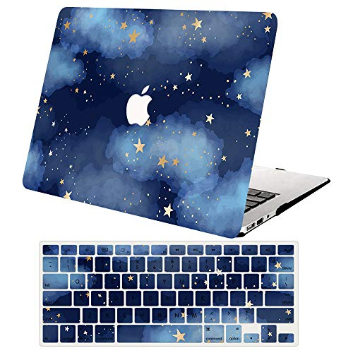 ACJYX MacBook Pro 15 Inch Case 2019 2018 2017 2016 Release A1990 A1707, 2 in 1 Plastic Hard Case Cover with Keyboard Cover for Mac Pro 15 with Touch Bar,Star