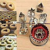 Moonlight Star 7 Piezas de Cookies Herramientas de Corte 3D Escenario de Acero Inoxidable Cortador de Galletas de Jengibre Conjunto Torta de la Galleta del Molde del Cortador de la Pasta de azúcar