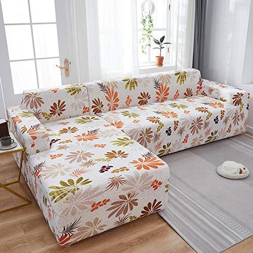 Fsogasilttlv Correas Elásticas Protector de Muebles 3 plazas, Fundas de sofá elásticas Impresas elásticas para sofá, Funda para sofá seccional de Esquina K