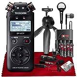 Tascam DR-05X 2-Input / 2-Track Portable Stereo Handheld Digital Audio Recorder w/USB Audio Interface (Black)++ 32GB + Beyerdynamic Earphones + Microphone + Deluxe Accessories Bundle