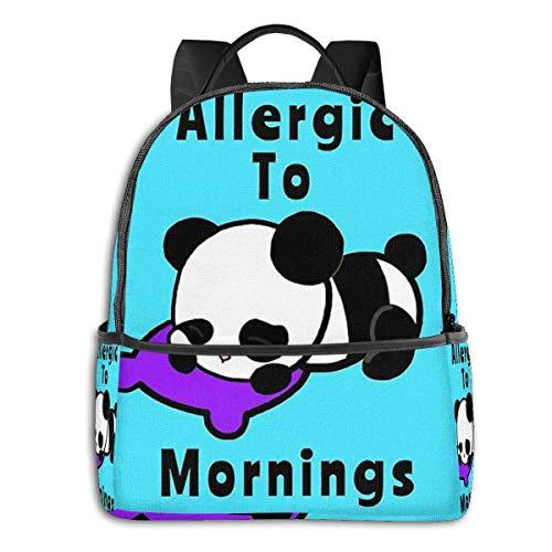 Hdadwy Alérgico a Las mañanas Panda Mochila Unisex Escuela Mochila Diaria Ligero Viaje Informal Mochila para Acampar al Aire Libre