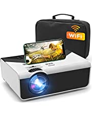 "Deal on GRC Mini Projector, Portable WiFi Movie Projector with Synchronize Smart Phone Screen, 1080P and 200"" Display Supported , Compatible with Android, iOS, TV Stick, HDMI, USB , AV for Home/ Outdoor Movie"