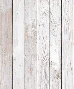 (Original2 Vintage, Paquete de 2) Papel tapiz de mural autoadhesivo con veta de madera reciclada y rústica 50cm X 3M (19,6