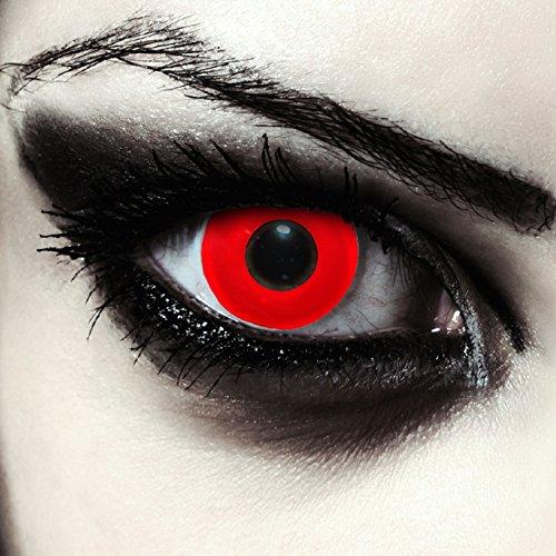 """Rosse pianura lenti a contatto colorate rosso, morbide, non corrette modello:""""Blood Eye"""""""