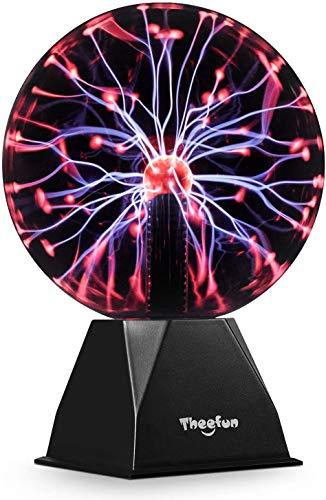 Bola de plasma mágica, Bola luminosa Theefun Bola electrostática Bola de relámpagos sensible al tacto, Juguete educativo parpadeante Física Luz de destello Lámpara de plasma Esfera Efectos de luz