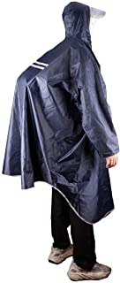 Outdoor Rain Poncho Reflective Waterproof Raincoat Camping Hiking Cycling with Hood for Men Women Adult