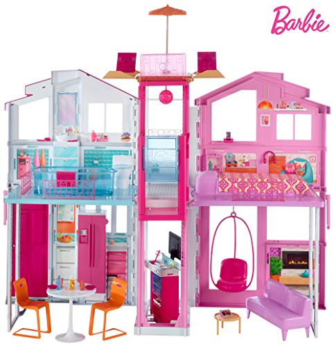 Barbie-la Casa di Malibu per Bambole con Accessori e Colori Vivaci,