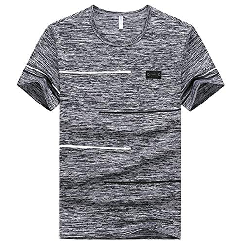 Camiseta De Gran TamañO De Manga Corta para Hombre De Moda De Verano, Camiseta Informal De Secado RáPido para Hombre, Camiseta Suelta Y Voluminosa para Hombre, Talla Grande 7XL 8XL 9XL