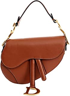 Anich Women Designer Saddle Shoulder Bag Top Handle Tote Handbag Crossbody Purse