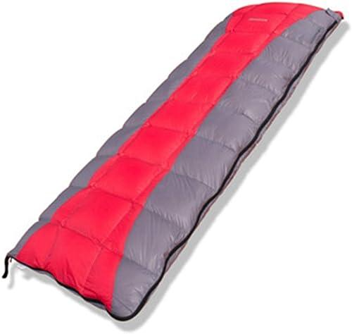 Sakuldes Sac de Couchage d'enveloppe de Camping, portatif léger, imperméable pour l'hiver (Couleur   rouge)