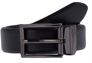 Dents Mens Reversible Grained Leather Belt - Black/Brown