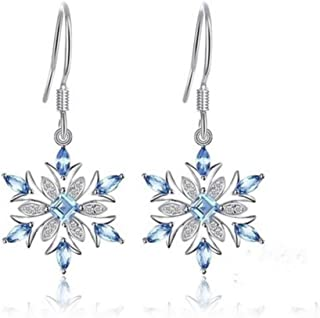 JJGL 925 Sterling Silver Earrings Snowflake Earrings Gift