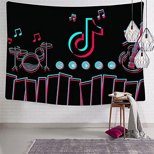 835 Tiktok-musique - Tapiz para colgar en la pared, decoración del hogar, 120 x 122 cm