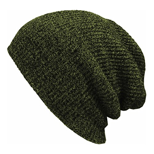 PIXNOR Bonnet tricoté Hommes Chapeau Beanie Hip-Hop pour Hommes (Vert)