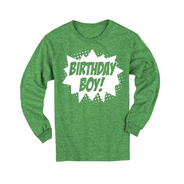 Happy Family Clothing Superhero Birthday Boy Comic Book Hero Party Long Sleeve T-Shirt