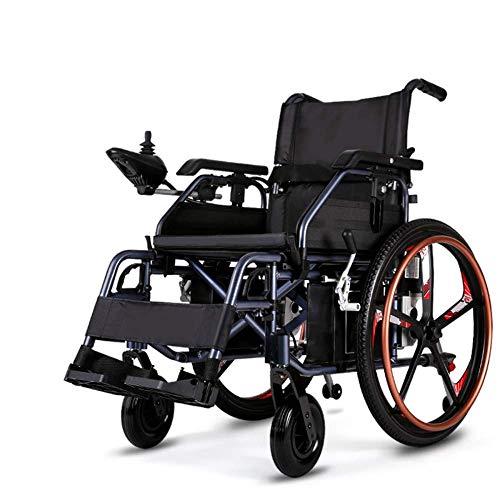TWL LTD-Wheelchairs Durable, Plegable, Transporte de Energía, Silla de Ruedas Eléctrica, Silla Plegable Móvil, Silla de Ruedas Motorizada, Automatizada Y Portátil, Que Puede Elevarse Y Bajarse