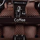 Youthus Alfombrillas Coche para Chevrolet Enjoy Epica Camaro Aveo Cruze Captiva Trax Lova Sail Accesorios Coche Cuero De PU Impermeable café