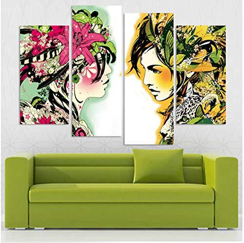 Titoboo Walmart_40X80+40X100 - Lienzo decorativo para pared, diseño abstracto