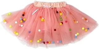 Baby Girls Tutu Dress Pom Pom Balls Soft Tulle Tutu Dress for Toddler Girls