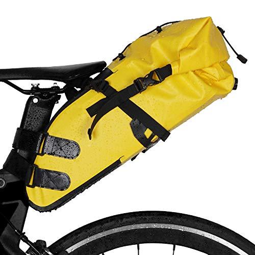 Neolife Bikepacking Bag wasserdichte Bike-Satteltasche Großraumrad-Rücksitzpackung Schwarz