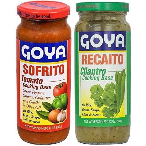 Goya Recaito & Goya Sofrito Cooking Base 2 - 12 Oz Jars (1 of Each)