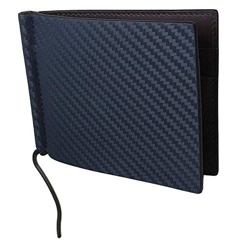 ダンヒル dunhill 財布 マネークリップ 二つ折り財布 札ばさみ メンズ シャーシ CHASSIS ネイビー×ダークブラウン L2A285N [並行輸入品]