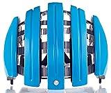Carrera–Faltbarer Fahrradhelm–Unisex, Erwachsene M/L Bleu (Azure)