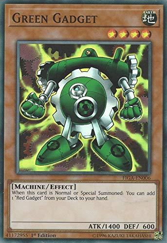 Yu-Gi-Oh! - Green Gadget - FIGA-EN006 - Super Rare - 1st Edition - Fists of The Gadgets