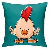 YHKC Funda de Almohada Cuadrada súper Suave y cómoda, Elegante Funda de Almohada, sofá Dormitorio 18 & Times; 18 Chickencutemascotpunkfunfunny