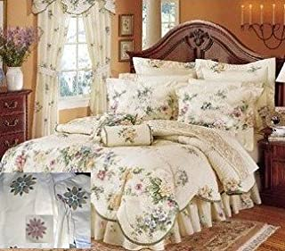 JCPenney Floral Bed skirt Victorian King