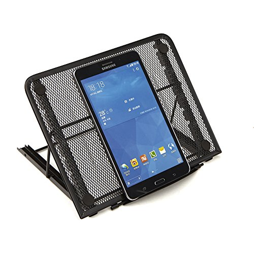 Mind Reader Adjustable Mesh Tablet Stand Organizer, Black