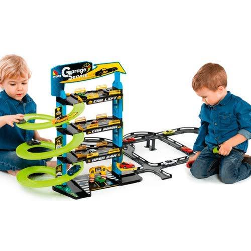 M MOLTO Parking Infantil con 4 Plantas + Pistas
