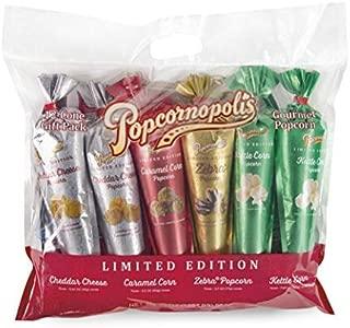 Popcornopolis Popcorn 12 Cone Snack Pack (Metallic)